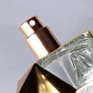 100ml wholesale luxury vintage uv electroplated coating empty glass bottle for perfume oil