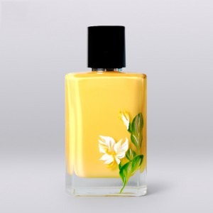 100ml square clear glass perfume bottle with printed logo