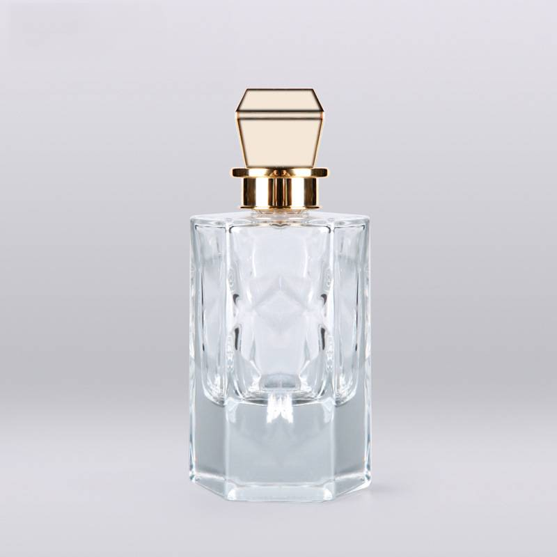 Thick base crystal  perfume glass bottles 100ml mens perfume bottle manufacturers Featured Image