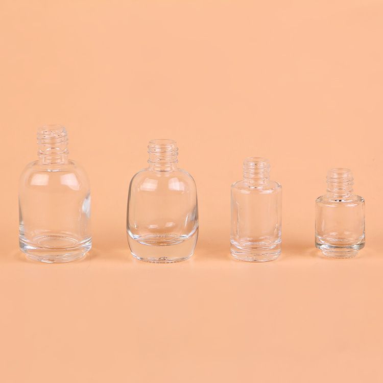 11ml 12ml Clear unique crystal cap empty glass custom made nail polish bottle Featured Image
