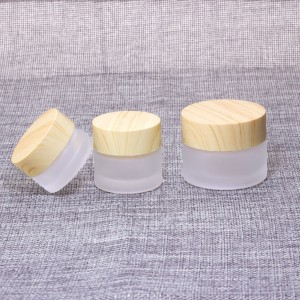 5g 10g 15g 30g 50g wholesale frosted glass cosmetic cream jar with aluminium lid