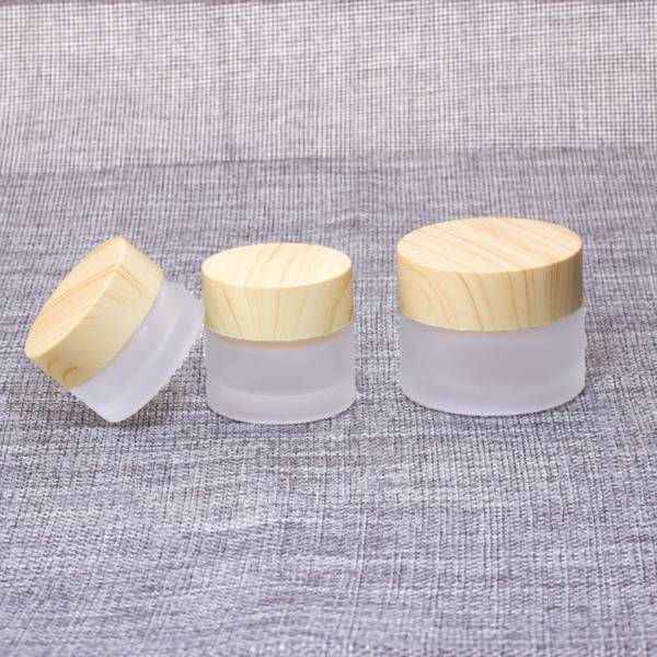 5g 10g 15g 30g 50g wholesale frosted glass cosmetic cream jar with aluminium lid Featured Image