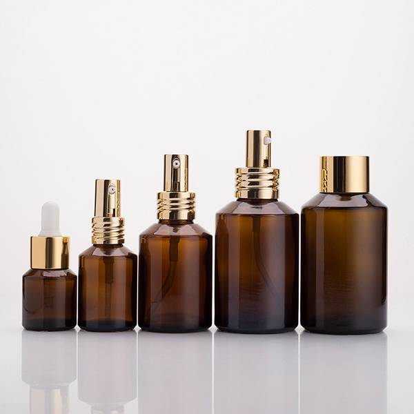 15ml 30ml 60ml 100ml 120ml amber essential oil bottle wide neck spray cosmetic glass empty bottles factory Featured Image