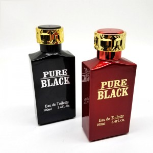 100ml Black and red best empty glass bottle perfume for lady