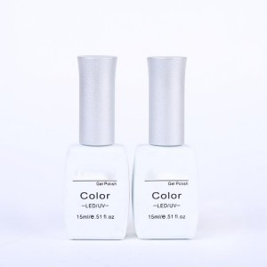15ml 0.5oz white painting private label empty led uv gel polish nail bottle glass