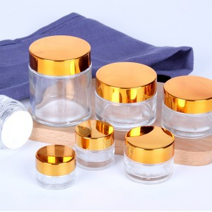 5g 10g 15g 30g 50g factory clear empty cosmetic cream jar wholesale