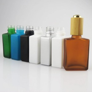 15ml 30ml 50ml 100ml square dropper bottle empty essential oil glass bottle wholesale