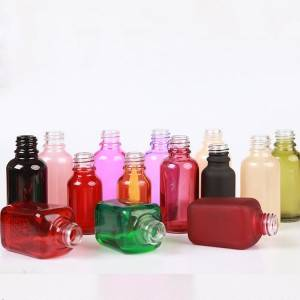 1 oz 30ml square essential oil bottle cosmetic clear glass dropper bottles