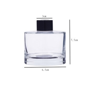 50ml 100ml 150ml 200ml factory round empty glass reed diffuser bottles wholesale