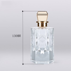 Thick base crystal  perfume glass bottles 100ml mens perfume bottle manufacturers