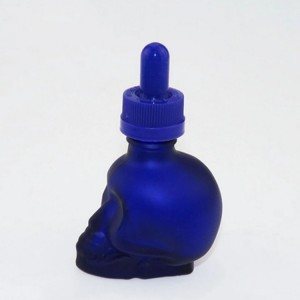 15ml/30ml/50ml wholesale empty custom glass skull dropper bottle for essential oil