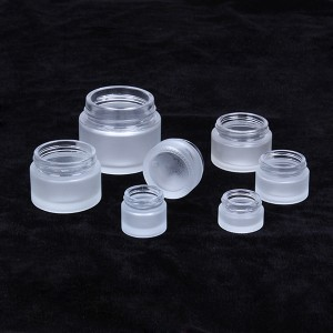 5g 10g 15g 30g 50g 100g wholesale clear empty frost cosmetic cream jar set