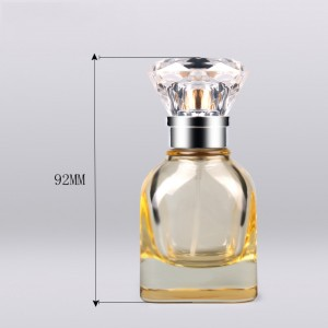 30ml empty color coating yellow spray round original concentrated arabic perfume oils Chinese glass bottle