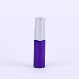 5ml 10ml cylinder shape custom coating empty nail polish glass bottle with round cap