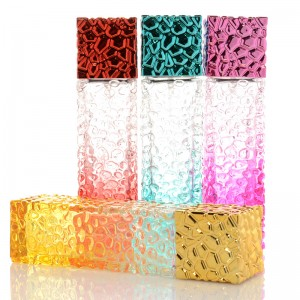 30ml wholesale custom made colored rectangle spray perfume empty glass bottle