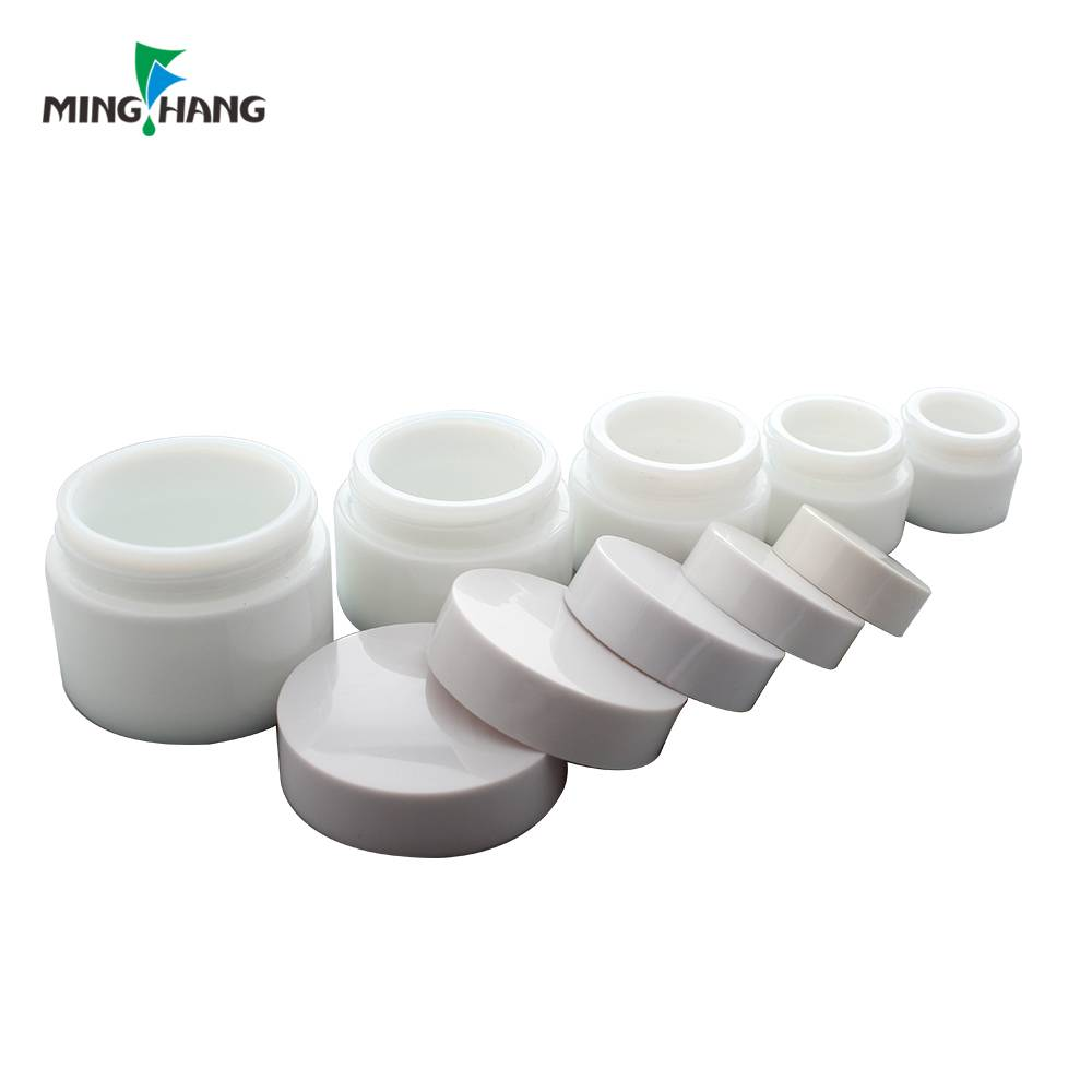 High quality 5ml 15ml 20ml 30ml 50ml recycled white glass cosmetic jar