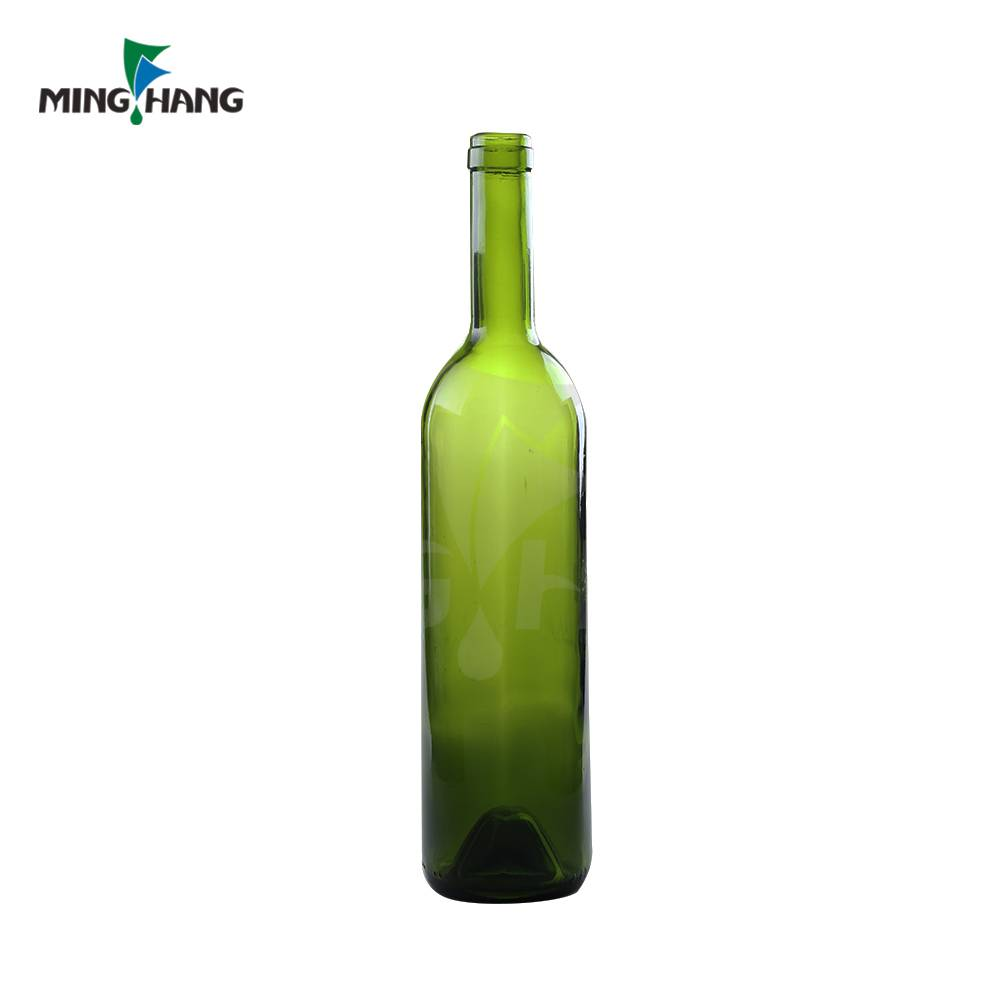 wholesale 750ml glass red wine bottle with cork olive oli bottle for sale