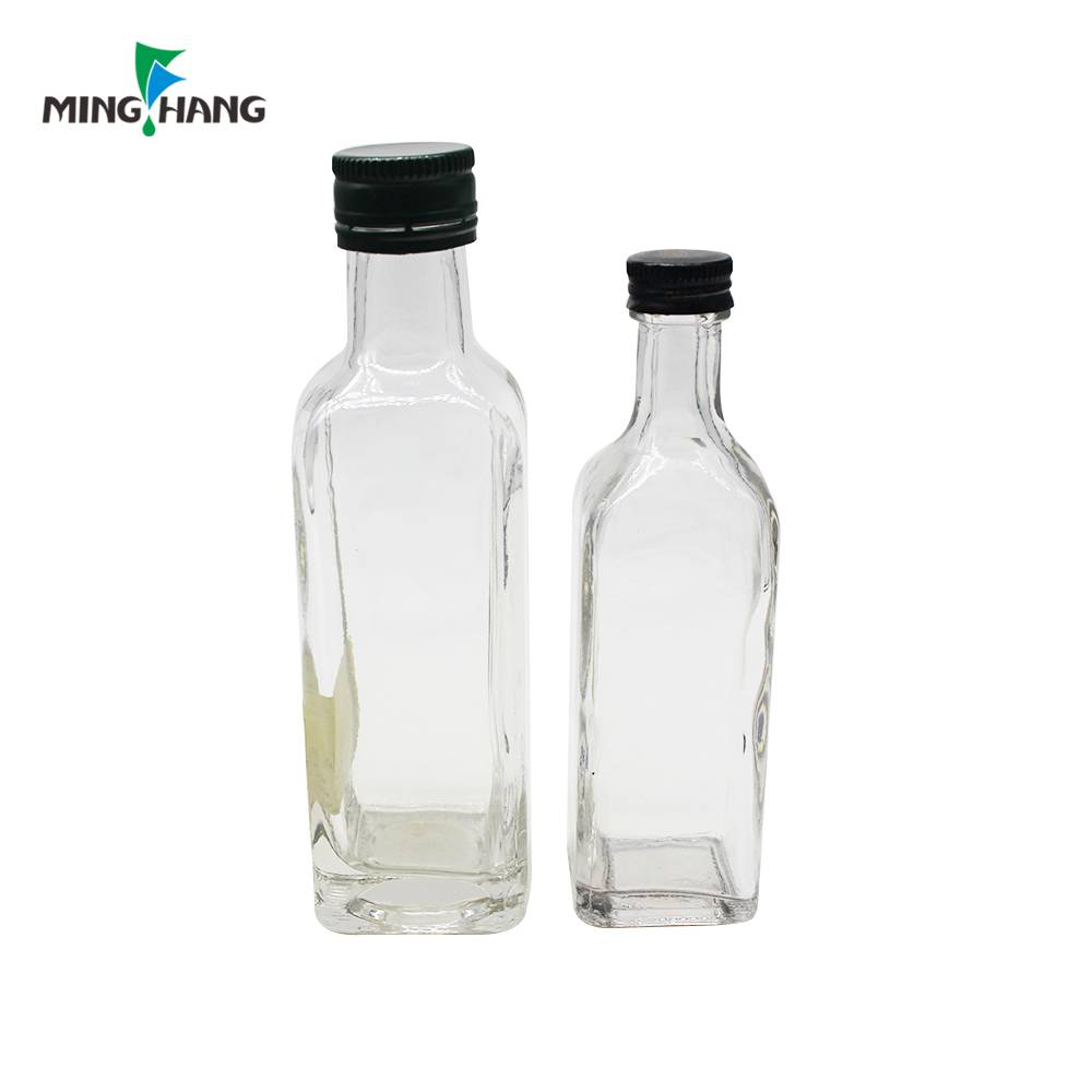250ml 500ml 750ml cheap glass oil vinegar bottle with cover
