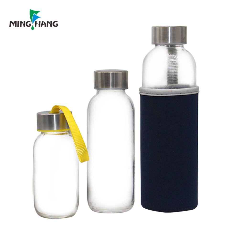 Factory Wholesale different capacity empty glass bottle