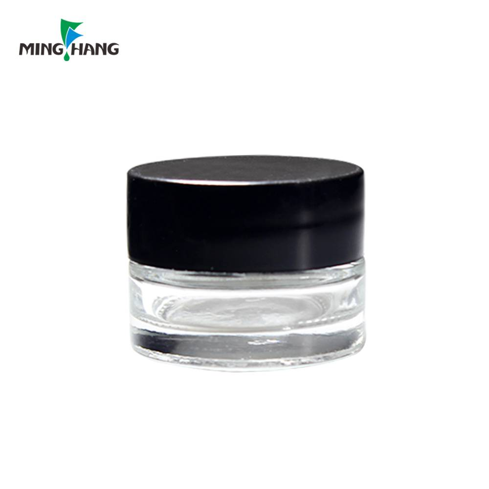 luxury cream glass jar custom personal care glass bottle with plastic cap