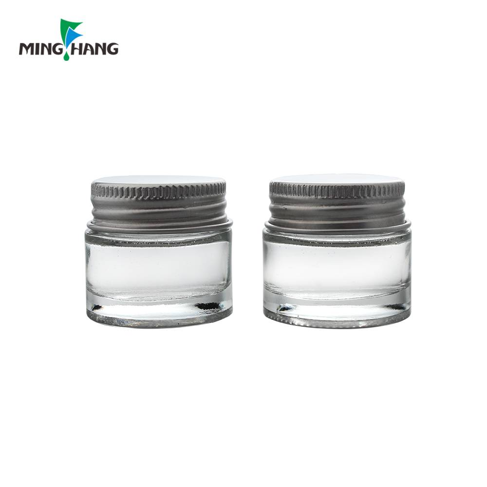 5g clear cosmetic containers, glass cream jars