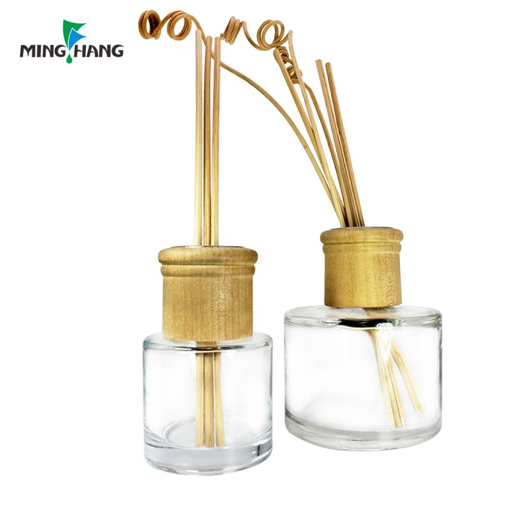 empty aroma perfume reed diffuser glass bottle with different lid
