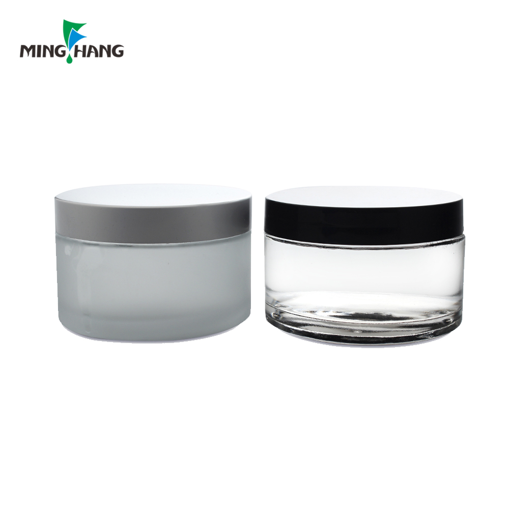 200g facial cream glass jar for cosmetic with plastic cap