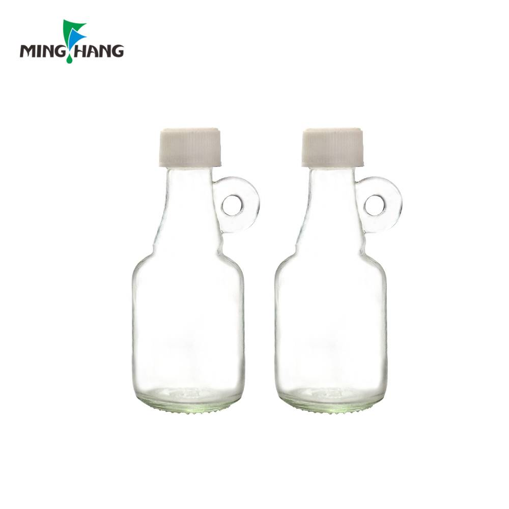 40ml transparent glass bottle for alcohol wine bottles with handle