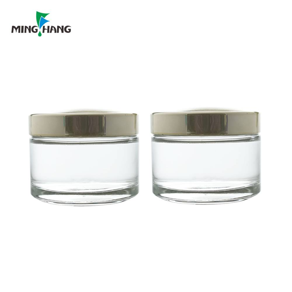 Elegant clear 25ml cream jar , glass essence bottles for face care wholesale