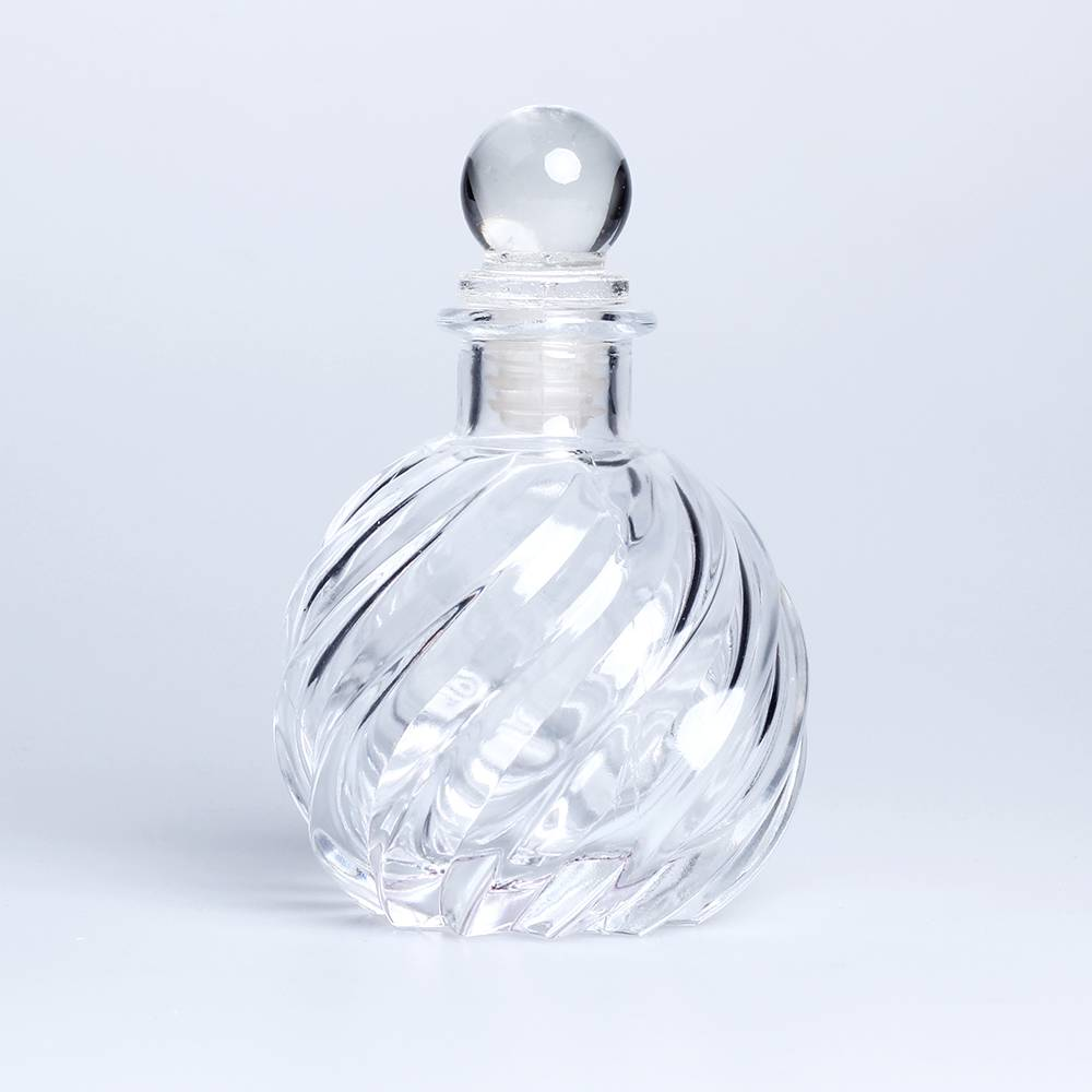 30ml round ball glass reed diffuser bottle air freshener container with glass cover