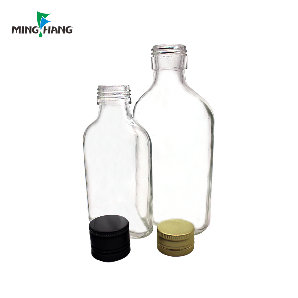 High quality 130ml square glass bottle for whisky liquor for sale