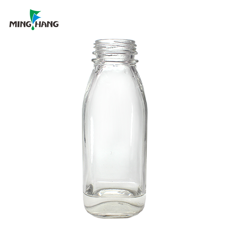 500ml juice bottle clear glass beverage bottle coffee drinking bottle for sale