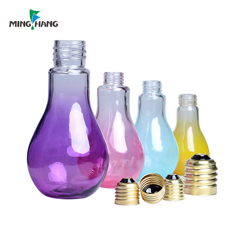 250ml Light Milk Glass Bottle Lamp Bulb Drink Juice Beverage Glass Bottle