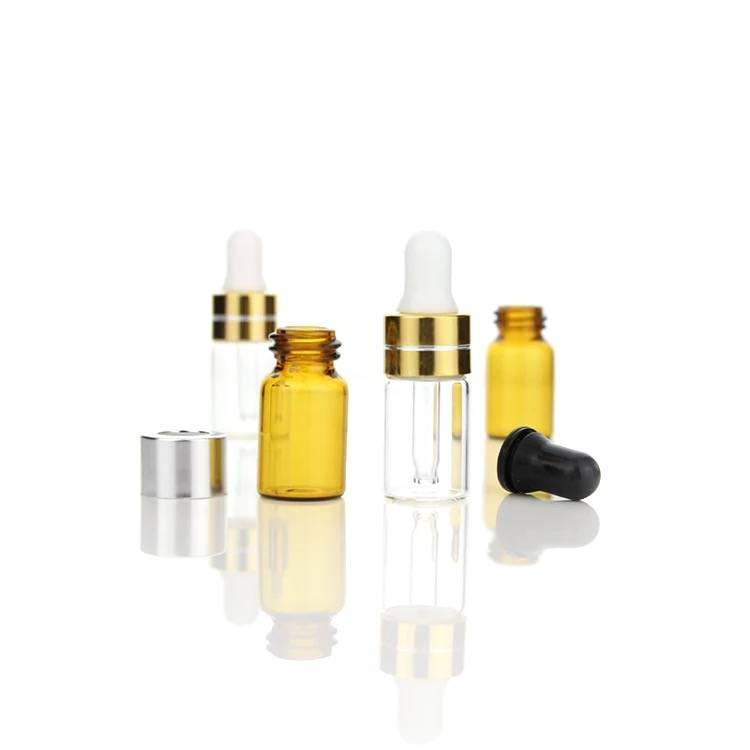 custom glass test vial perfume sample spray bottle mini dropper bottle for sale