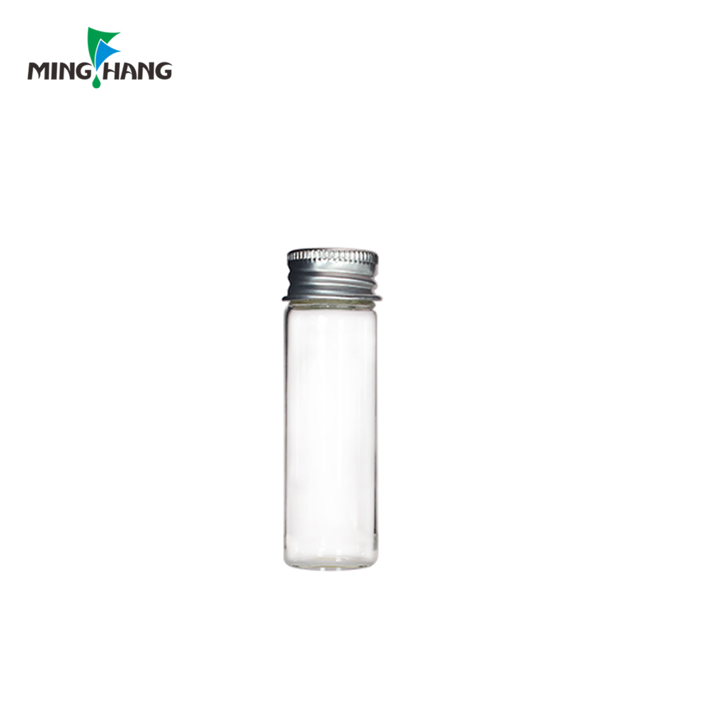 10ml glass vial tube bottle for liquid medicine with screw aluminum cap