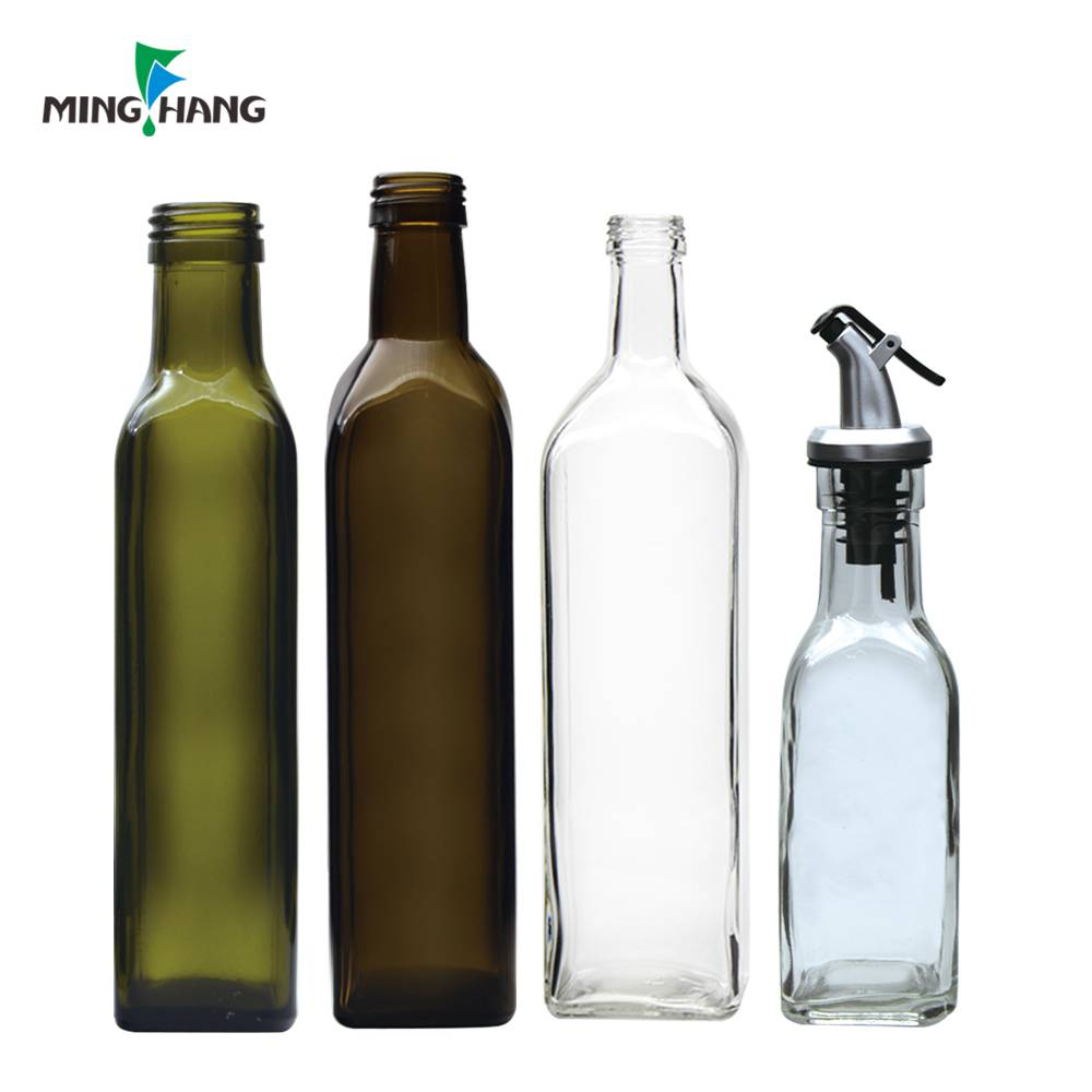 250ml 500ml custom made cooking oil glass bottle