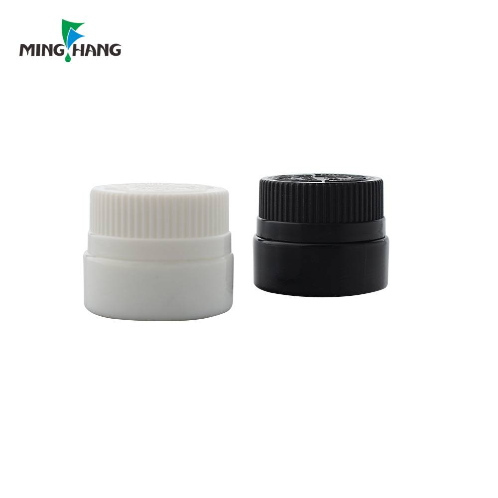 30ml black glass bottle for cosmetic cream, make-up bottle with Child-resistant caps