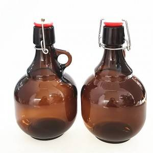 1 liter amber beer glass bottles with swing top
