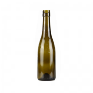 375ml burgundy wine glass bottle with screw top