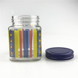 400ml square food container glass jar