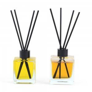 50ml 100ml 125ml 200ml Square reed diffuser glass bottle