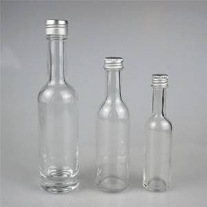 empty mini 100 ml 50 ml glass liquor bottle