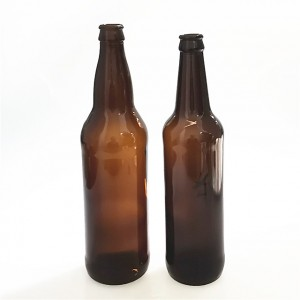 650ml 65cl amber brown glass bottle for beer packaging philippines with crown cap