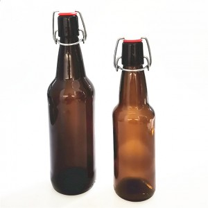 330ml 500ml glass beer bottle with swing tops