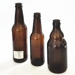 wholesale 330 ml amber brown glass cold brew coffee bottle
