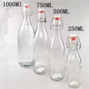 16 ozround recycled drink beer bottles with swing tops cap seal