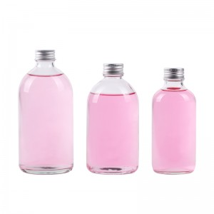 350 ml clear round glass kombucha bottles with screw lid