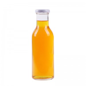 wholesale 350 ml empty glass bottle for beverage with twist off lid