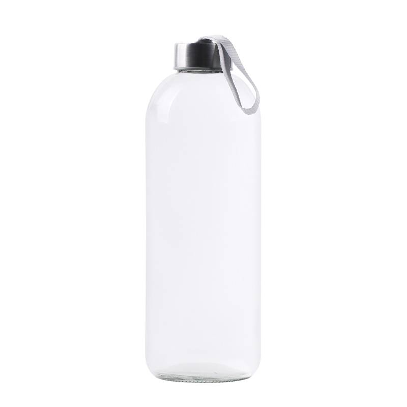 1000ml glass water bottle wth bamboo lid