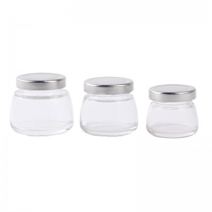 4 oz airtight food grade glass jar with tin lid